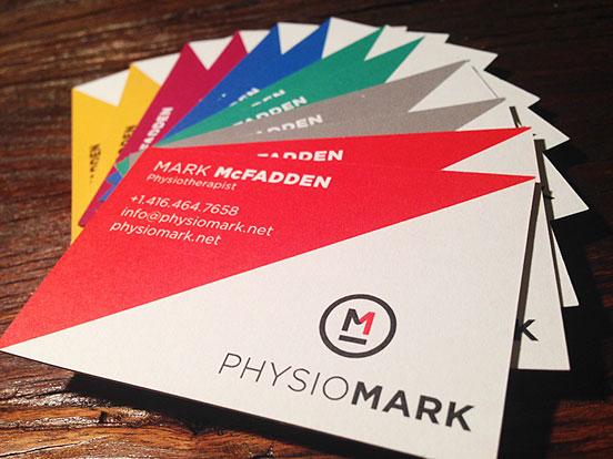 PhysioMark Identity Business Cards