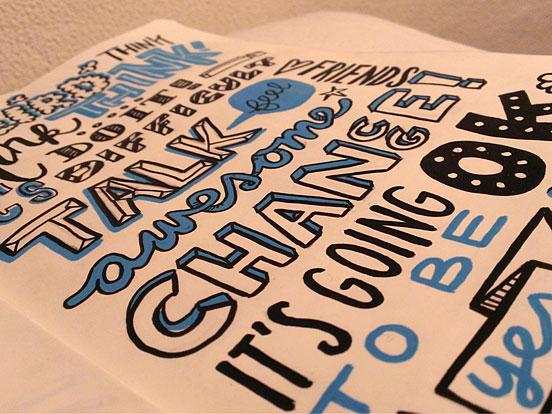 Typography practising Moleskine