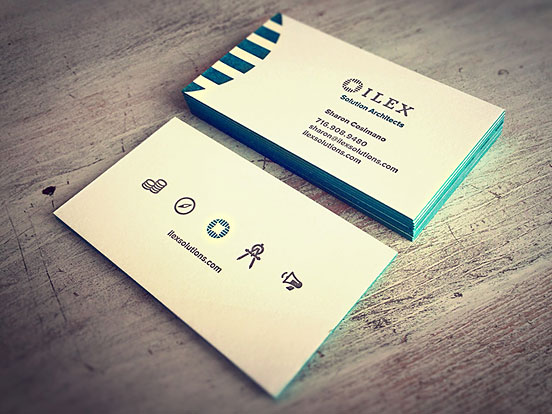 Ilex Letterpress Business Cards