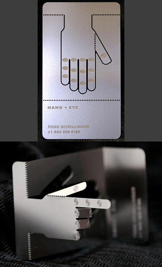 Articulated Laser Cut Metal Business Card