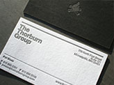 Slick Black And White Business Card