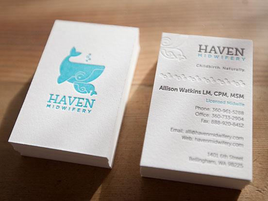 4 Color Letterpress Business Cards