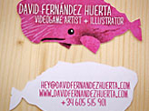 Quirky Die Cut Pink Whale Business Card