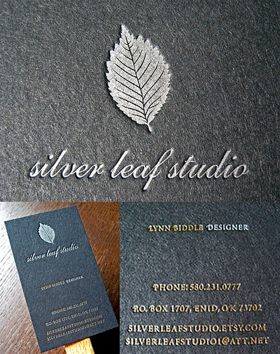 Black Silver And Gold Business Cards