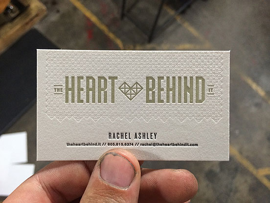 Heart Behind Business Cards