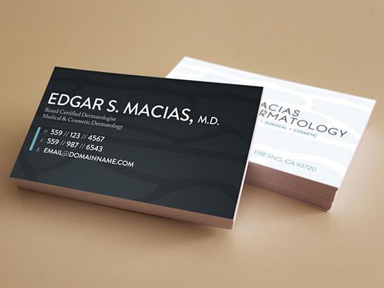 Macias Dermatology Business Cards