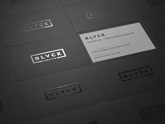 Blvck Business Cards