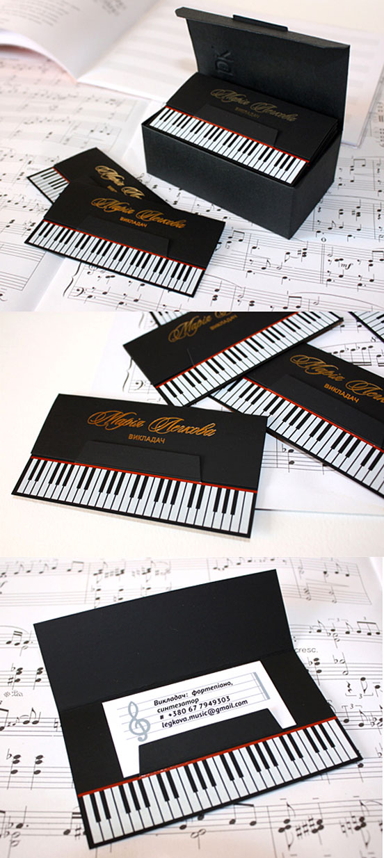 Clever Die Cut Black Business Cards