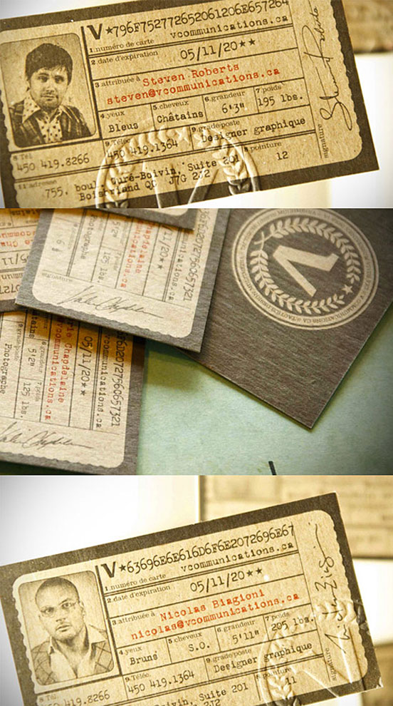 Cool Antique ID Business Cards