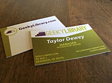 GeekyLibrary Business Cards