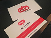 Hello Innovation Business Cards