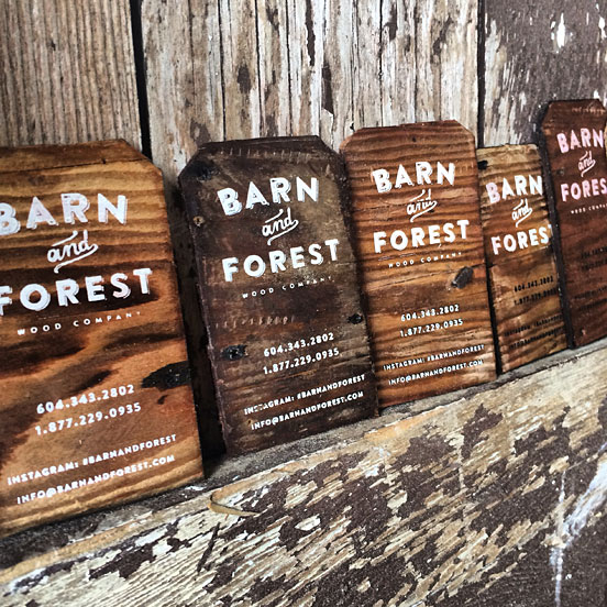Reclaimed Wood Business Card