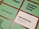 Seth Akkerman Business Cards
