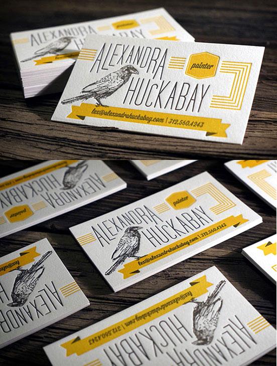 Two Colour Letterpress Business Cards