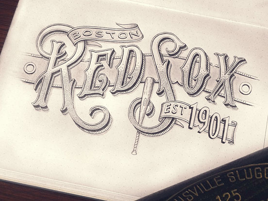 Boston Red Sox Lettering