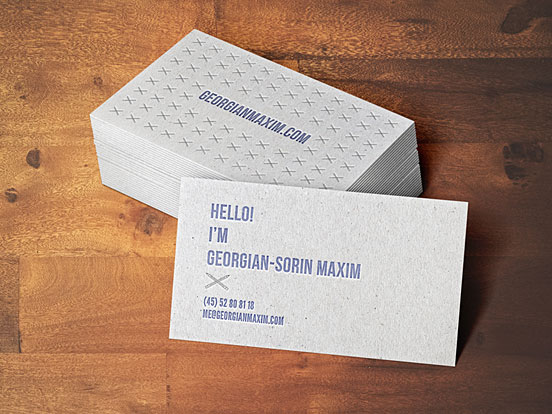 Georgian Sorin Maxim Studio Business Card