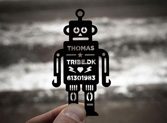 Robot Stencil Business Card