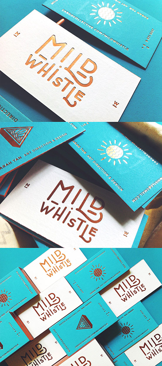 Turquoise And Gold Business Card