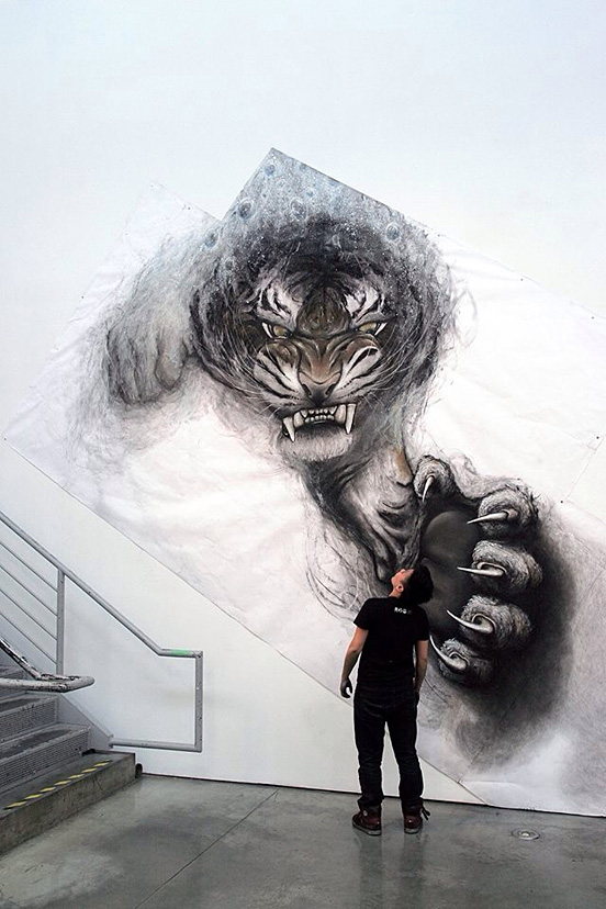 3d Animals Made With Charcoal Chalk Pastel And Acrylic The Design