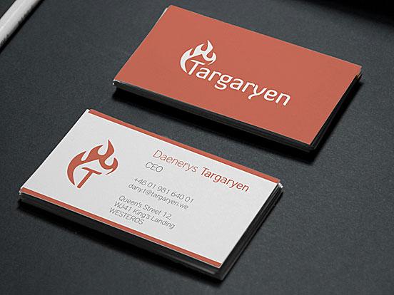 Daenerys Targaryen Business cards