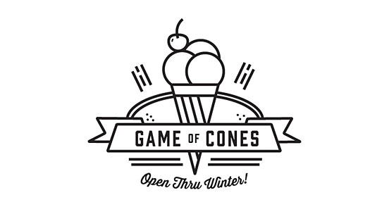 Game Of Cones Logo Design The Design Inspiration