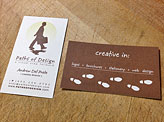 Paths of Design Business Cards