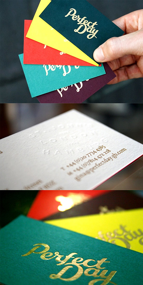A Hot Foil Stamped Business Cards