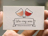 French Restaurant Business Cards