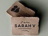 I Am Sarah V Branding Business Card