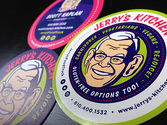 Jerry's Kitchen Food Business Card