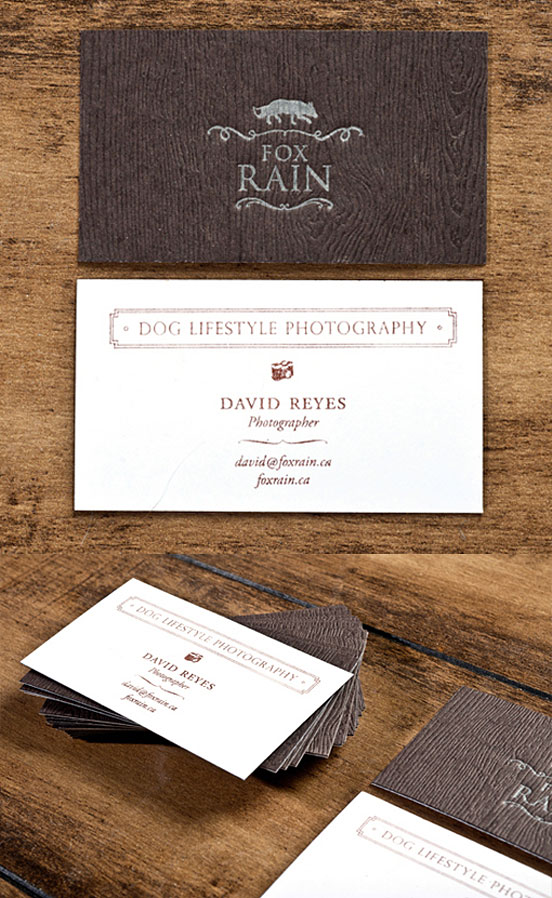 Textured Hand Stamped Business Card