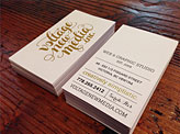 VNM White & Gold Business Cards