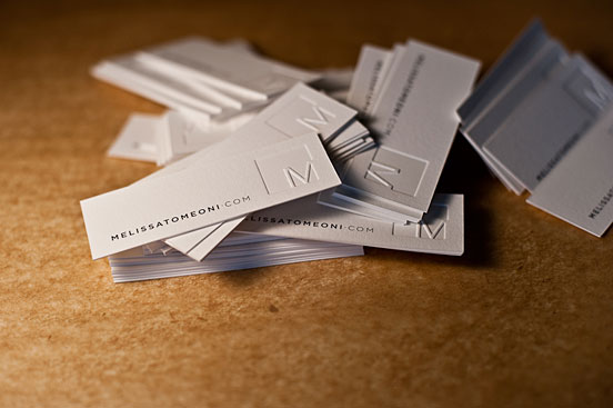 Modern Letterpress Business Cards