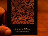 Risha Kariwal Business Cards