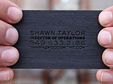 Wood Hot Foil Stamped Business Card