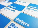Deskera Embossed Business Cards