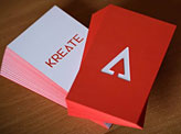 Modern Die Cut Business Cards