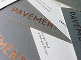 Pavement Business Cards
