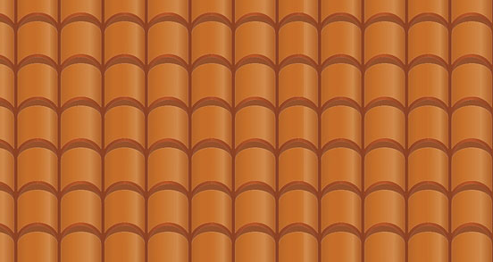 Terracotta Roof Pattern