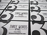 Three Words Business Cards