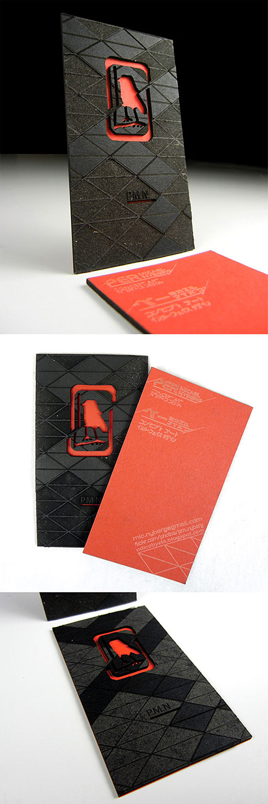Black And Red Business Carda