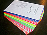 Bright Neon Business Cards