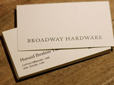 Broadway Hardware Business Cards