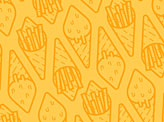 Fries Cream Pattern