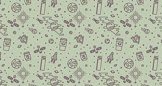 Rocket Coffee Pattern