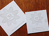 White On White Business Card