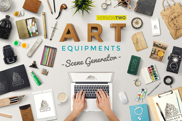 Art Equipments Scene Generator