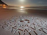 African Beach Calligraphy Doodles