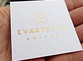 Elegant Metallic Business Cards