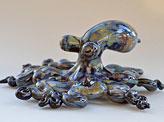 Glass Octopus Sculpture